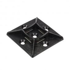 "Nsi FTH7A-B Adhesive Tie Mount Black 1x1 inch 100 Adhesive Tie Mount 1"" - Black, 100 Per Pack Price For 100"