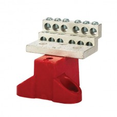 Nsi 1012B 12 Circuit Stacked Neutral C/W 225A Stacked Neutral Bar, 4-14 AWG 12 Circuits - With Mtg Base Price For 1