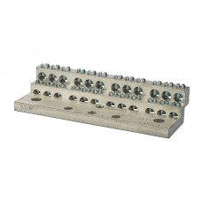 Nsi 1024 24 Circuit Neutral Al/Cu 225A Stacked Neutral Bar, 4-14 AWG 24 Circuits Price For 1