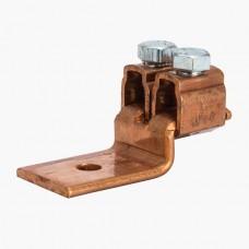 "Nsi D899 4/0-2 Cu Solderless Lug Copper Solderless Lug, (2) 4/0-2 AWG, 3/8"" Mtg Hole Price For 6"