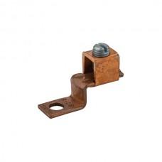 """Nsi DE705 2-8 Cu Solderless Lug Copper Solderless Lug, 2-8 AWG, 1/4"""" Mtg Hole Price For 100"""