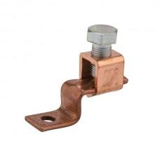"""Nsi DE706 1/0-6 Cu Solderless Lug Copper Solderless Lug, 1/0-6 AWG, 1/4"""" Mtg Hole Price For 25"""