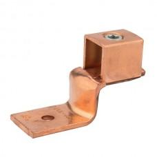 """Nsi DE708 500-4/0 Cu Solderless Lug Copper Solderless Lug, 500 MCM - 4/0 AWG, 3/8"""" Mtg Hole Price For 2"""