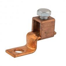 """Nsi DE713 3/0-4 Cu Solderless Lug Copper Solderless Lug, 3/0-4 AWG, 3/8"""" Mtg Hole Price For 18"""
