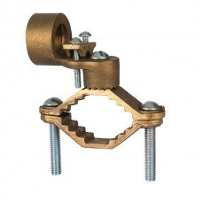 """Nsi G-10 Ground Clamp HD 1 1/4-2 inch w/ 1 inch Rigid Bronze Ground Clamp For Rigid Conduit, 1"""" Conduit Hub, 1 1/4"""" - 2"""" Water Pipe, 3/0 STR Ground Wire Max,  cULus CSA Price For 8"""