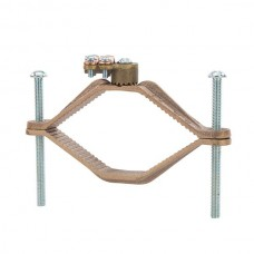 """Nsi G-16 Ground Clamp HD 4 1/2-6 inch w/Adapter Heavy Duty Bronze Ground Clamp, 4 1/2"""" - 6""""  Water Pipe, 4/0 STR Ground Wire Max,  UL Price For 3"""