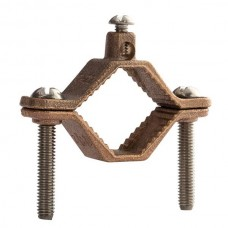 """Nsi G-2-SDB Ground Clamp HD 1 1/4-2 inch DB Rated Direct Burial Bronze Ground Clamp, 1 1/4"""" - 2"""" Conduit Size, 2 STR Ground Wire Max,  cULus Price For 10"""