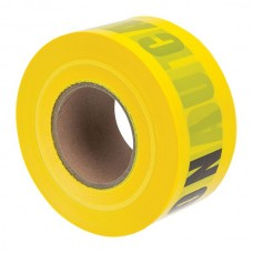 """Nsi BT-305 Caution Tape 3 inch 4 Mil Yellow  3"""" Yellow Barricade Tape """"Caution""""  Price For 1"""