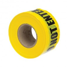 """Nsi BT-308 Caution Tape 3 inch  Yellow 3"""" Yellow Barricade Tape """"Caution Do Not Enter"""" Price For 1"""