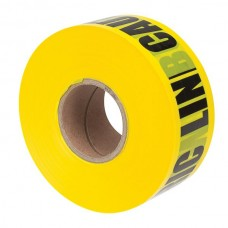 """Nsi ULT-326 3 inch Yellow  inchBuried Electric Line Below inch 3"""" Yellow Underground Line Tape """"Caution Buried Electric Line Below"""" Price For 1"""