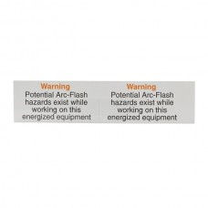 Nsi VL-7 Warning - Potential Arc Flash Self Sticking Self-Sticking Lockout Labels - Warning - Potential Arc Flash Price For 1