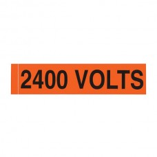 "Nsi VM-A-18 Voltage Markers 2400 Volt Voltage Markers 2400 Volt, 1ea. 9x2.25"" Price For 1"