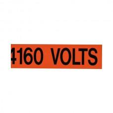 """Nsi VM-A-19 Voltage Marker 4160 Volts Voltage Marker 4160 Volts, 1ea. 9x2.25"""" Price For 1"""