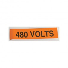 "Nsi VM-A-3 Voltage Markers 120 Volts Voltage Markers 120 Volts, 1ea. 9x2.25"" Price For 1"