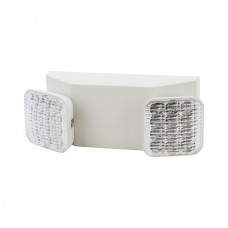 Nsi EMTW-LED LED Twin Head Emergency Light 6V 2x5.4W Wht LED Twin Head Emergency Light, 120/277V, White Housing, (2) 5.4W Lamps, 6V 90Min Battery Backup Price For 1