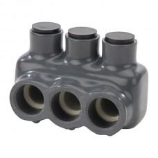 Nsi IPLG3/0-3 Polaris? Grey Multi-Tap 3/0 3 Port 3/0-4 AWG ( B,C,D) 2/0-2 AWG ( K,M,I)  Polaris? Grey For Fine Stranded Cooper Conductor -3 Port Price For 6