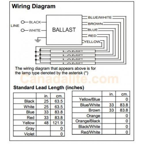 philips advance 32w 4lamp f32t8 ballast instant start 347v