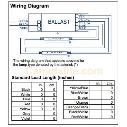 Philips Advance Icn 2s54 90ct 35m Terminals 49w 1 2 X F49t5 Ho Ballasts Programmed Start 120 277v
