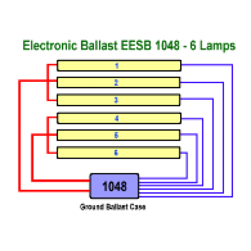 EESB 1048 26L six Lamp Wiring 500x500 allanson eesb 1048 26l 120 277v electronic fluorescent sign ballast sign ballast wiring diagram at aneh.co