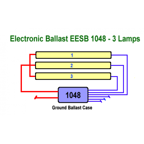 EESB 1048 26L three lamp wiring 500x500 allanson eesb 1048 26l 120 277v electronic fluorescent sign ballast allanson ballast wiring diagram at reclaimingppi.co