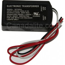 Electronic Transformer - SET60UL - Halogen Transformer - 12V Transformer - 12V 60W AC Transformer [ Will Sub <a href='https://www.canadalite.com/ET-60-1-F?search=ET-60-1-F'   >ET-60-1-F</a> ]