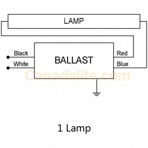 Lamp 4ft 32ft electronic sign ballast 120v 277v instand start