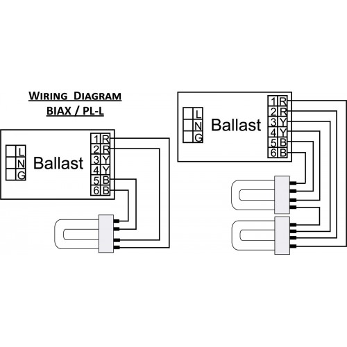 Wiring Diagram Biax 500x500 ultrasave er254480ht w 1(2) lamp pll55 (ft55w) programmed programmed start ballast wiring diagram at couponss.co