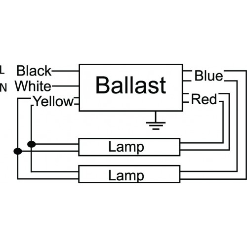 Wiring Diagram PR2110 2 500x500 ultrasave gr240347 2 lamp f40t12 electronic fluorescent programmed start ballast wiring diagram at fashall.co