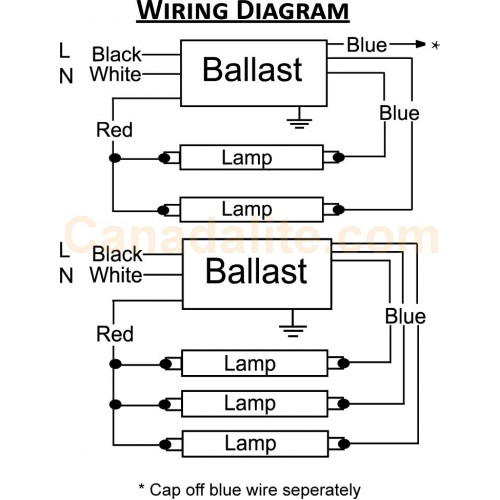 Wiring Diagram UT332 500x500 12 [ ge 4 lamp t12 ballast ] single bulb ballast wiring diagram wiring diagram for ballast for fluorescent lights at eliteediting.co