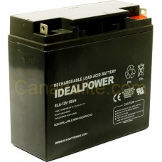 Emergency Light Battery - ELA-12V-18AH - 12 Volt - 18Ah Capacity  - Rechargeable Sealed Lead Acid Battery