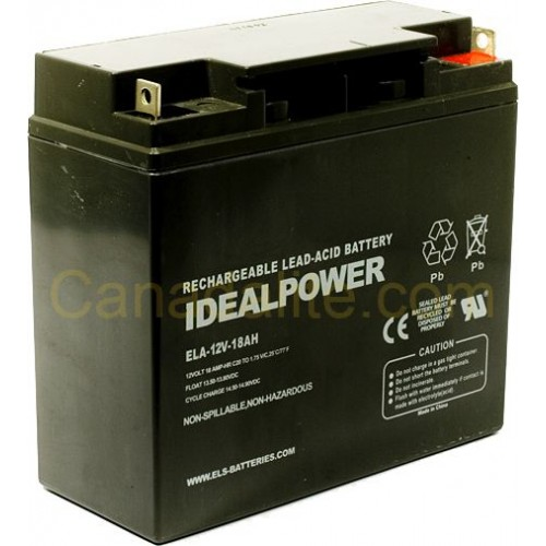 Emergency Light Battery - ELA-12V-18AH - 12 Volt - 18Ah ...