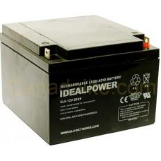 Emergency Light Battery - ELA-12V-26AH - 12 Volt - 26Ah Capacity  - Rechargeable Sealed Lead Acid Battery