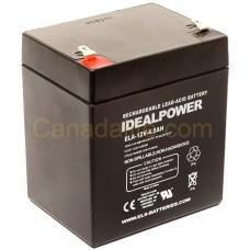 Emergency Light Battery - ELA-12V-4.5AH - 12 Volt - 4.5Ah Capacity  - Rechargeable Sealed Lead Acid Battery
