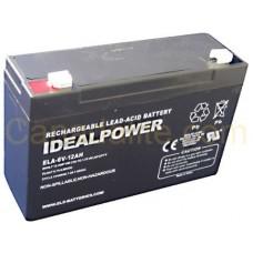 Emergency Light Battery - ELA-6V-3.4AH - 6 Volt -1.3Ah Capacity - Rechargeable Sealed Lead Acid Battery