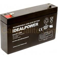 Emergency Light Battery - ELA-6V-7.2AH - 6 Volt - 7.2Ah Capacity  - Rechargeable Sealed Lead Acid Battery