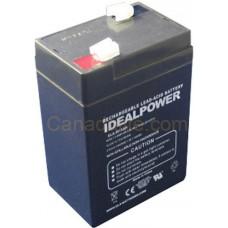 Emergency Light Battery - ELA-6V-5AH - 6 Volt -  5.0Ah Capacity -  Rechargeable Sealed Lead Acid Battery