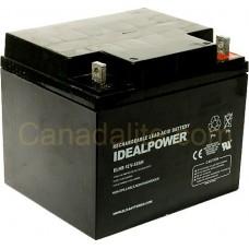 Emergency Light Battery - ELHR-12V-42AH - 12 Volt - 42Ah Capacity  - Rechargeable Sealed Lead Acid Battery
