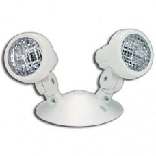 Beghelli SR2 6V 9W WHT - Double Remote Head for Emergency Light - Thermoplastic - 6VDC - 2X9 Watt Tungsten - PAR18 - White