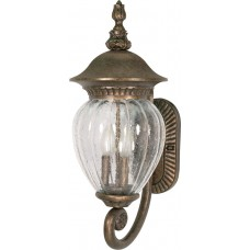 "Nuvo 60-785 3 Light 22"" Outdoor Wall Lantern in Platinum Gold"