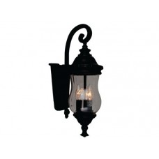 Avista Lighting - A01951-6 - 3-Light Outdoor Wall Sconce -  Black with Clear Glass - B10 - E12 - 120V