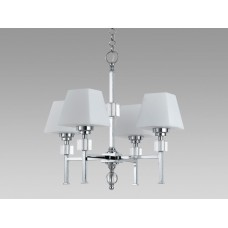Amlite -CC301/4CH -4-Light Chandelier - Chrome Finish with Opal Glass