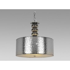 Amlite -CP4223CH -3-Light Pendant - Silver Hard Back Shade