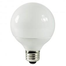 9 Watt - 2700K / Warmwhite - Globe G25 CFL  -120V -  Medium (E26) Base - SL9/O/G25/ES/827 - Symban