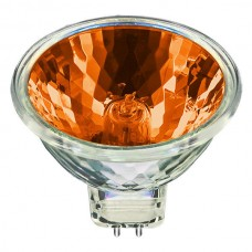 USHIO 1003132 - 50W - MR16 - Popstar -  Orange - EXT  Spot - Glass Cover - 4,000 Life hours - 12 Volt **Discontinued and Not Available**
