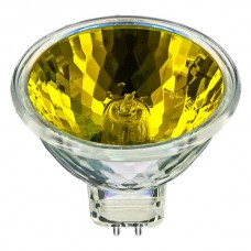 USHIO 1000580 - 50W - MR16 - Popstar -  Yellow - FNC  Spot - Glass Cover - 4,000 Life hours - 12 Volt **Discontinued and Not Available**