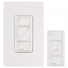LUTRON P-PKG1W-WH-C Caséta Wireless In-Wall Dimmer with Pico Remote Control Kit, White