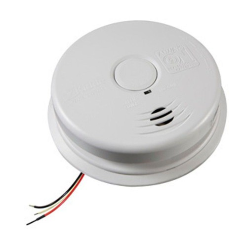 kidde i12010sca smoke alarm ionization 120v ac wire in smoke alarm with 10 year worry free. Black Bedroom Furniture Sets. Home Design Ideas