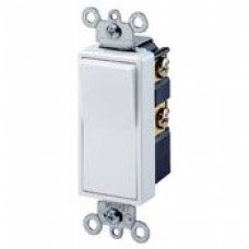 Leviton 5604-2W 15 Amp, 120/277 Volt, Decora Rocker 4-Way AC Quiet Switch, Residential Grade, White
