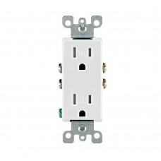 T5325-W - 15 Amps - 125 Volt - Duplex Tamper Resistant Receptacle - White