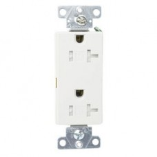TR1307W-BOX - 20 Amps - 125 Volt - White Tamper Resistant Decora Receptacle - Cooper Wiring Devices